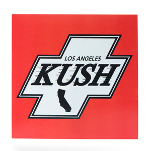 LA Kush Cross Sticker - Red/White