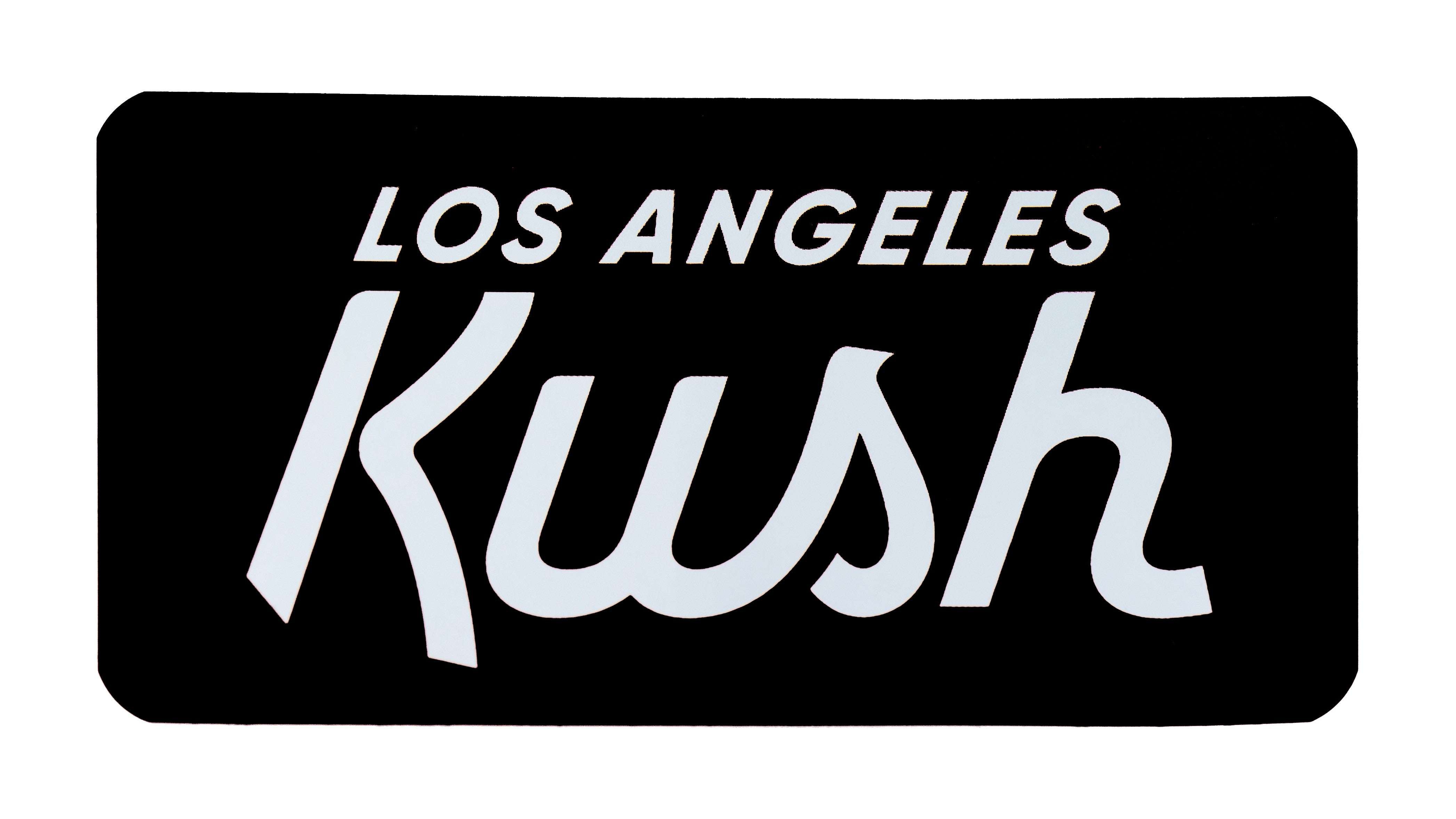 LA Kush OG Sticker - Black/White