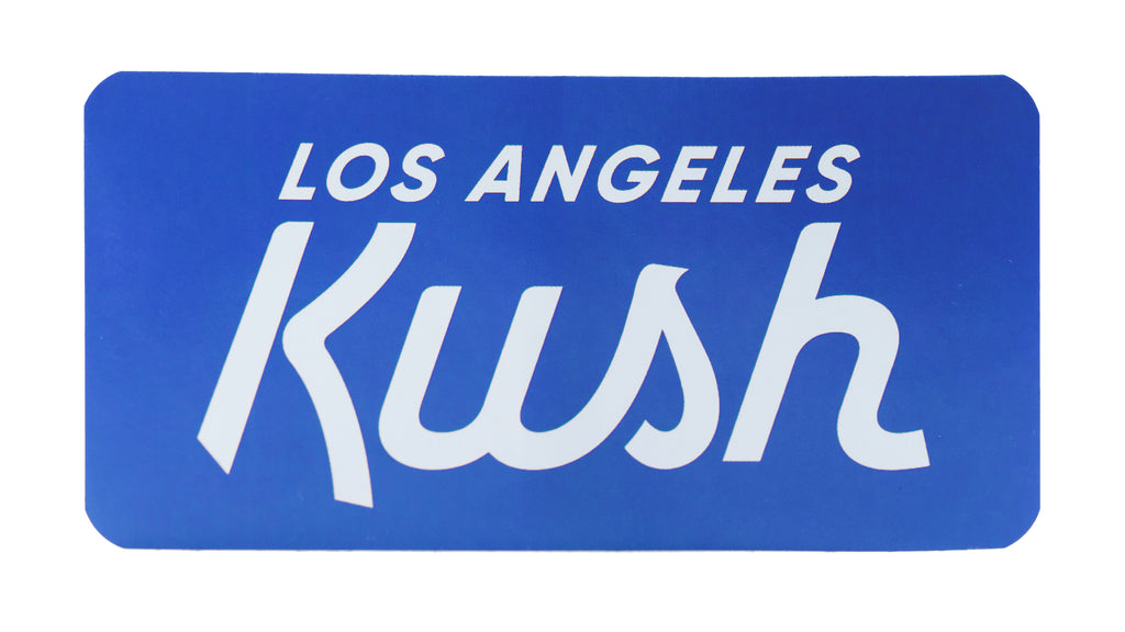 LA Kush OG Sticker - Blue/White