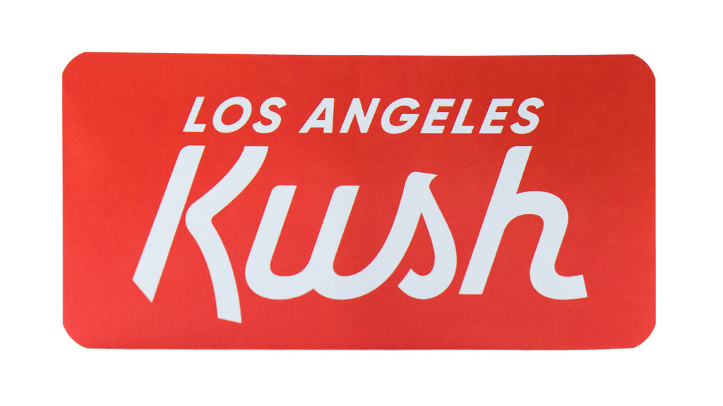 LA Kush OG Sticker - Red/White