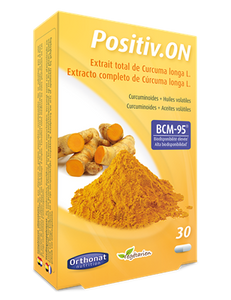 Positiv On 90 gélules Orthonat extrait curcuma BCM-95®