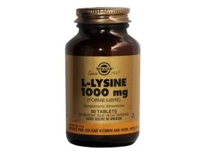 Lysine à PARIS  1000 mg 50 tablets SOLGAR