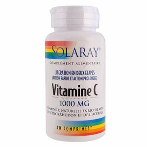 Vitamine C 1000mg Solaray action prolongée - 30 comp