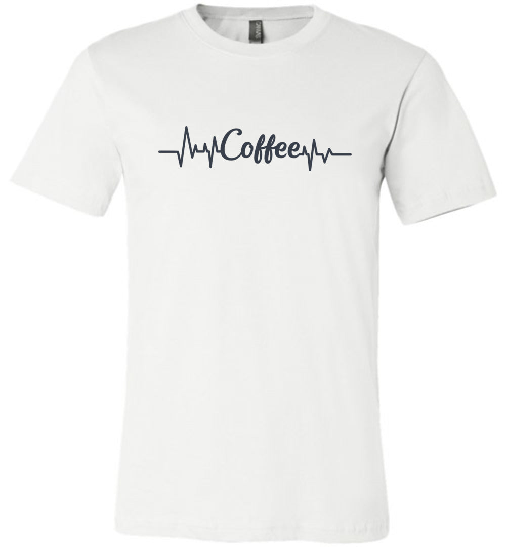 Coffee Heartbeat Adult Tee