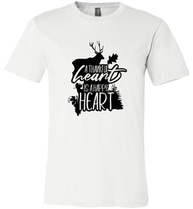A Thankful Heart is a Happy Heart #3 Adult Tee