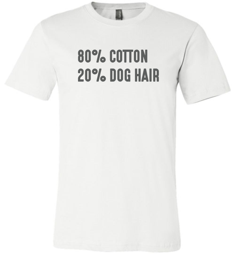 80% Cotton 20% Dog Hair Adult Tee