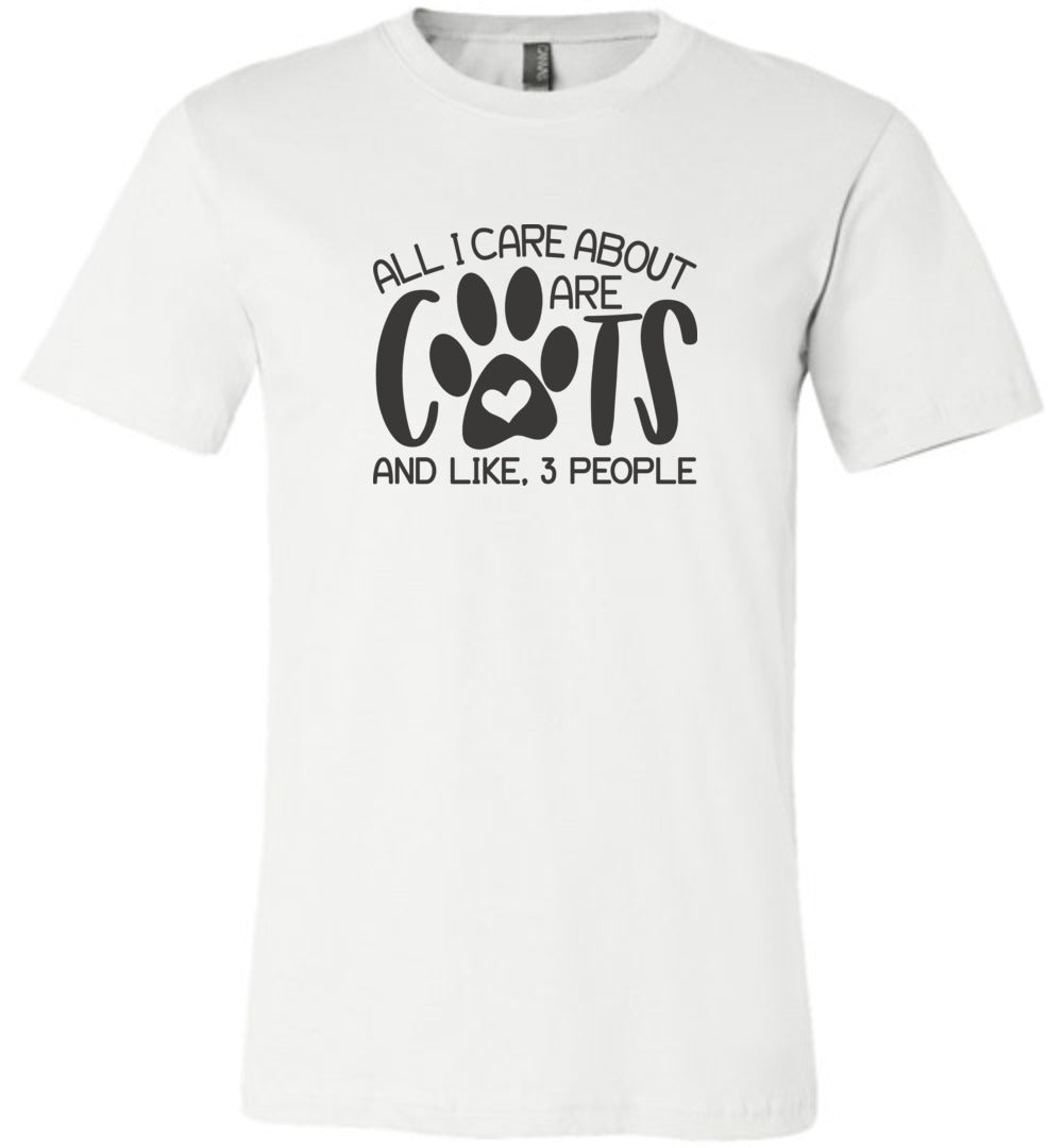 All I Care About are Cats Adult Tee