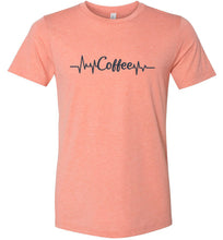 Load image into Gallery viewer, Coffee Heartbeat Adult Tee