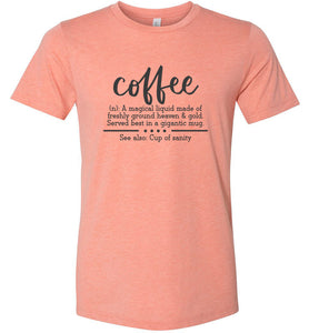 Coffee Definition Adult Tee