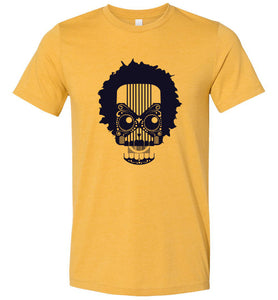 Artistic Skull with Hair Adult Tee