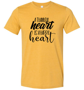 A Thankful Heart is a Happy Heart #1 Adult Tee