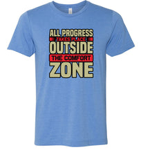 Load image into Gallery viewer, All Progress Takes Place Outside the Comfort Zone #2 Adult Tee