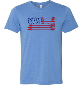 America Flag Arrow Adult Tee