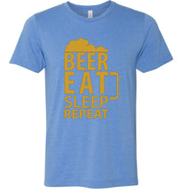 Load image into Gallery viewer, Beer Eat Sleep Repeat Adult Tee