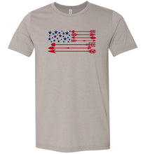 Load image into Gallery viewer, America Flag Arrow Adult Tee
