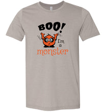 Load image into Gallery viewer, Boo I'm a Monster #2 Adult Tee