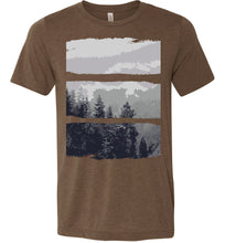 Load image into Gallery viewer, Artistic Mountain Forest Scene Adult Tee