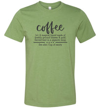 Load image into Gallery viewer, Coffee Definition Adult Tee