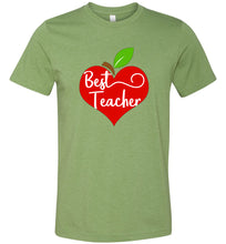 Load image into Gallery viewer, Apple Heart Best Teacher Adult Tee