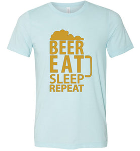 Beer Eat Sleep Repeat Adult Tee