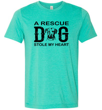 Load image into Gallery viewer, A Rescue Dog Stole My Heart Adult Tee
