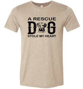 A Rescue Dog Stole My Heart Adult Tee