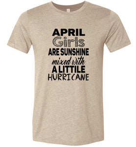April Girls are Sunshine Adult Tee