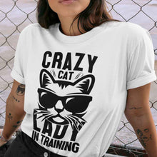 Load image into Gallery viewer, Crazy Cat Lady in Training Adult Tee