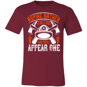 Aspire Rather to be a Hero Adult Tee