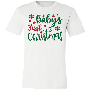 Baby's First Christmas Adult Tee