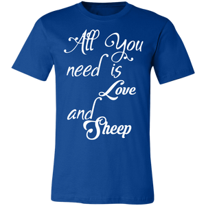 All You Need is Love and a Sheep Adult Tee