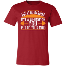 Load image into Gallery viewer, Age is No Barrier #1 Adult Tee
