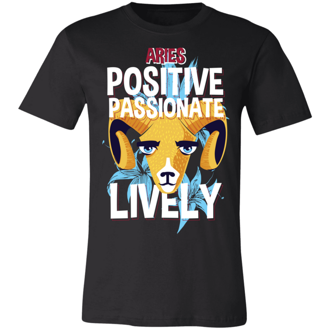 Aries Positive Passionate Lively Adult Tee