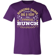 Load image into Gallery viewer, Boxing Fans are a Very Cynical Bunch Adult Tee
