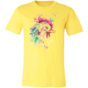 Artistic Rooster #3 Adult Tee