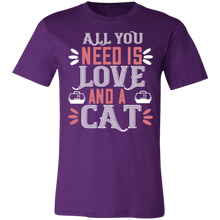 Load image into Gallery viewer, All You Need is Love and a Cat #2 Adult Tee