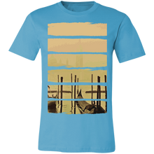 Load image into Gallery viewer, Artistic Boat Scene Adult Tee
