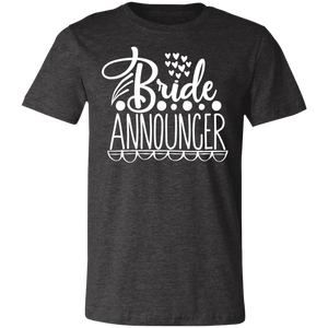 Bride Announcer Adult Tee