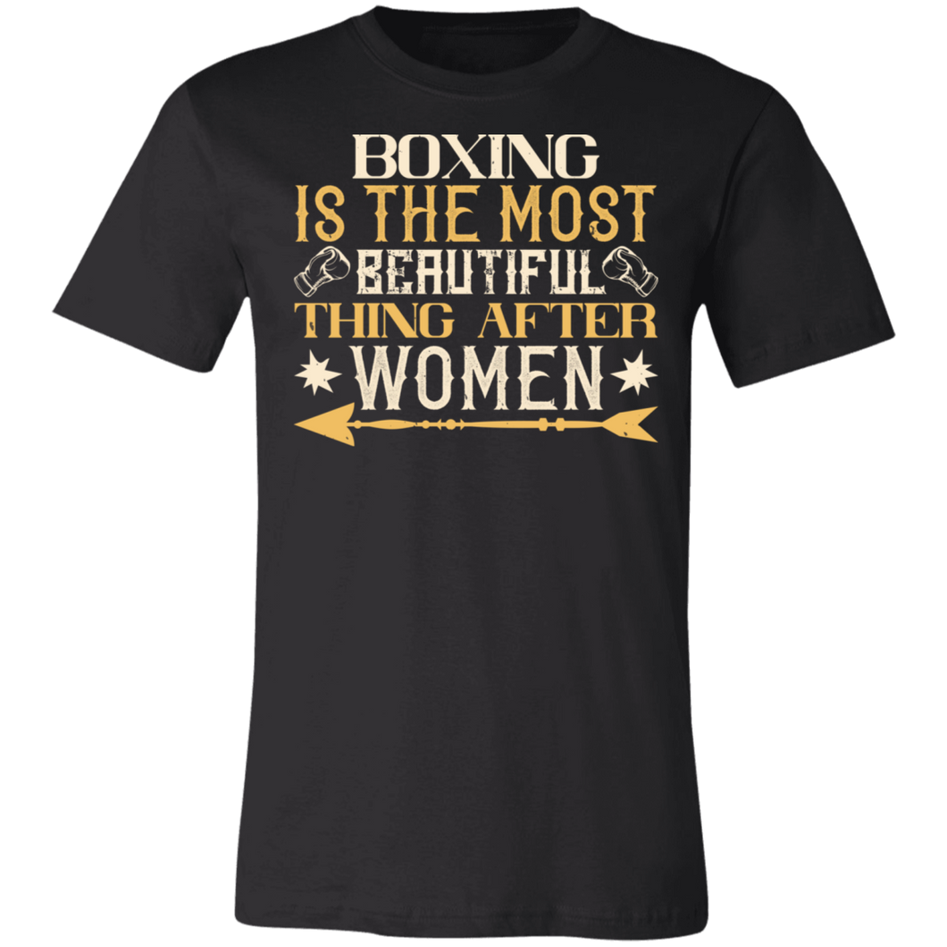 Boxing is the Most Beautiful Thing After Women Adult Tee
