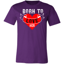 Load image into Gallery viewer, Born to Love Her Adult Tee