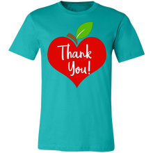Load image into Gallery viewer, Apple Heart Thank You Adult Tee
