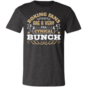 Boxing Fans are a Very Cynical Bunch Adult Tee