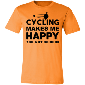 Cycling Makes Me Happy Adult Tee