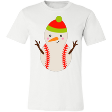 Load image into Gallery viewer, Baseball Snowman#2 Adult Tee