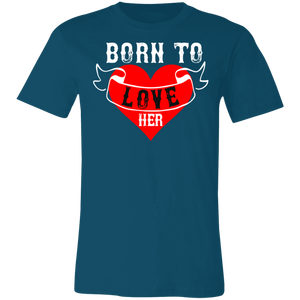 Born to Love Her Adult Tee