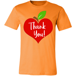 Apple Heart Thank You Adult Tee