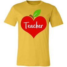 Load image into Gallery viewer, Apple Heart Teacher Adult Tee