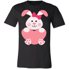 Load image into Gallery viewer, Bunny Girl Heart Floppy Ears Adult Tee