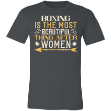 Load image into Gallery viewer, Boxing is the Most Beautiful Thing After Women Adult Tee