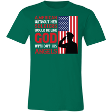 Load image into Gallery viewer, American Without Her Soldiers Adult Tee
